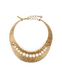 Oscar de la Renta - Metallic Gold Princess Necklace - Lyst