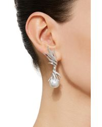 Tasaki High Jewelry White Gold Pearl Earrings