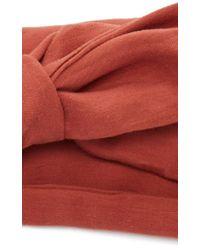Cult Gaia Orange Knot Turban