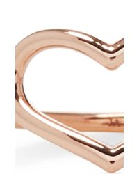 Jordan Askill | Pink Rose Gold Delicate Heart Ring | Lyst