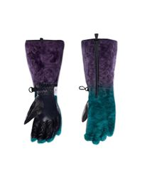 Moncler Genius Green 3 Moncler Grenoble Genius Padded Tech-shearling Gloves