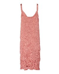Rochas Pink Q-pause Woven Dres