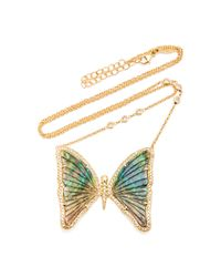 Jacquie Aiche Metallic One Of A Kind 14k Yellow Gold Large Opal Butterfly Necklace