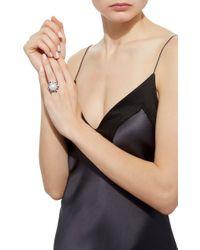 Yoko London - Metallic 18k White Gold Cultured Pearl Diamond Ring - Lyst