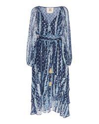 Figue Blue Frederica Silk Blend Dress