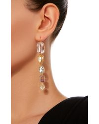 Renee Lewis - Pink 18k Gold Multi-stone Earrings - Lyst