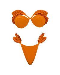 ANDREA IYAMAH Mulan Orange Bikini