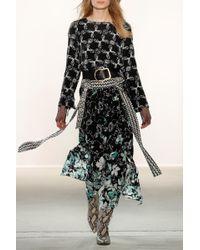 Dorothee Schumacher - Black Moving Florals Skirt - Lyst