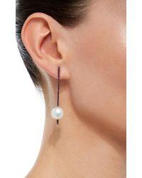 Nancy Newberg - Red Pearl And Ruby Stick Earrings - Lyst