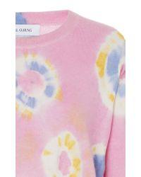 Prabal Gurung Pink Tie-dye Cashmere Sweatshirt
