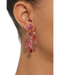 Anabela Chan - Pink M'o Exclusive Ruby Violet Chandelier Earrings - Lyst