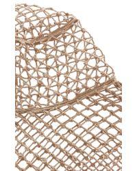 Etro - Brown Net Hat - Lyst