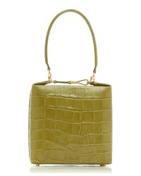 Rejina Pyo Green Lucie Croc-effect Leather Top Handle Bag