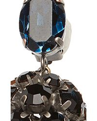 Marni - Black And Blue Strass Earrings - Lyst