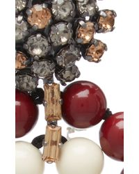 Marni | Red And White Earrings With Strass | Lyst