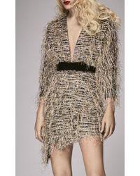 Markarian Metallic I Feel Love Tinsel Mini Dress