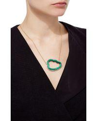 Pamela Huizenga - Green Large Malachite Cloud Silver Lining Necklace With Diamond Frame - Lyst
