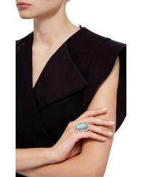 Pamela Huizenga - Blue Australian Black Opal, Alexandrite And Diamond Ring - Lyst