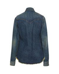 Nili Lotan Blue Travis Shirt