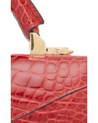 Stalvey - Red Top Handle 2.0 Alligator Shoulder Bag - Lyst