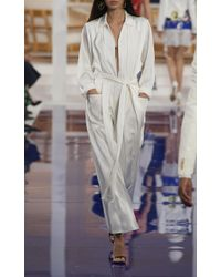 Ralph Lauren - White O'reilly Charmeuse Jumpsuit - Lyst