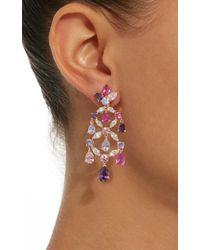 Anabela Chan - Pink M'o Exclusive Rose Amethyst Chandelier Earrings - Lyst