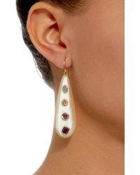Ashley Pittman - White Upendo Rose Quartz, Orange Zircon, Pink Amethyst, And Garnet Earrings - Lyst