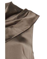 Tre by Natalie Ratabesi - Brown Tundra Silk Charmeuse Sleeveless Dress - Lyst