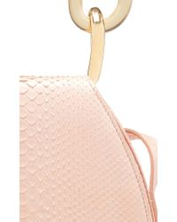 Marni Pink Melville Python-print Leather Clutch