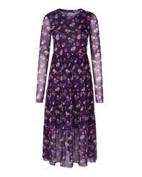 Baum und Pferdgarten Purple Jocelina Long Sleeve Midi Dress