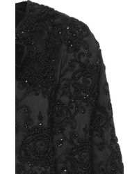 Figue - Black Embroidered Jacqueline Capelet - Lyst