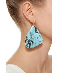 Annette Ferdinandsen Blue M'o Exclusive: One-of-a-kind Large Turquoise Tropical Wing Earring