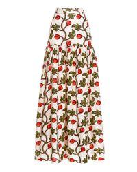 Agua by Agua Bendita Multicolor Margarita Printed Linen Maxi Skirt