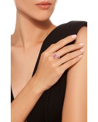 Nina Runsdorf - Small 18k White Gold Diamond And Pink Topaz Flip Ring - Lyst