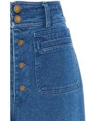 Apiece Apart - Blue Denim Marston Pant - Lyst