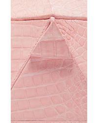 Nancy Gonzalez - Pink Hexagon Crocodile Clutch - Lyst