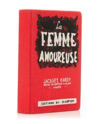Olympia Le-Tan Red La Femme Amoureuse Book Clutch