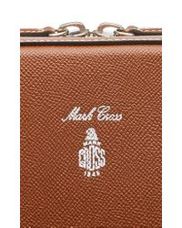 Mark Cross Brown Baker Textured-leather Briefcase