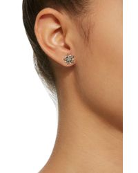 Kismet by Milka - Pink Single Eclectic Large Star Rose Gold Stud - Lyst