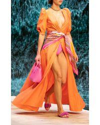 Ralph & Russo Orange Cotton-poplin Shirt Dress