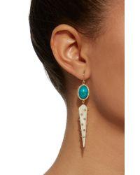 Ashley Pittman - White Light Horn Diamond And Turquoise Riley Earring - Lyst