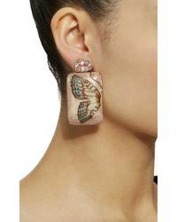 Silvia Furmanovich - Marquetry Pink Butterfly Earrings - Lyst