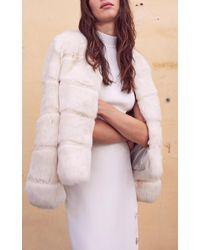 Alexis White Katimar Button Pencil Skirt