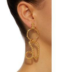 Paula Mendoza - Metallic Stbc Bubble 24k Gold-plated Earrings - Lyst