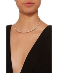 Isabel Lennse Metallic Sterling Silver Twisted Choker Necklace