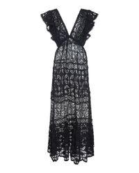 Waimari Black Nicole Lace Dress
