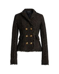 Giambattista Valli Black Textured Bouclé Jacket