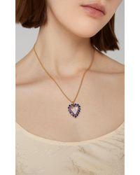 "Renee Lewis Metallic Antique White Diamonds With Antique Sapphire Border Heart ""shake"""