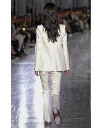 Giambattista Valli - White Cropped Twill Double Breasted Vest - Lyst