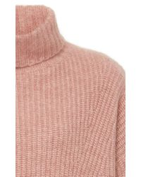 Sally Lapointe Pink Exclusive Rib-knit Cashmere And Silk Blend Sweater